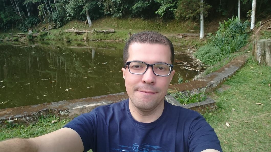 Selfie registrada com o Xperia XZ1