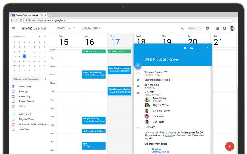 Google Calendar Design : Google agenda ganha nova interface com material design na
