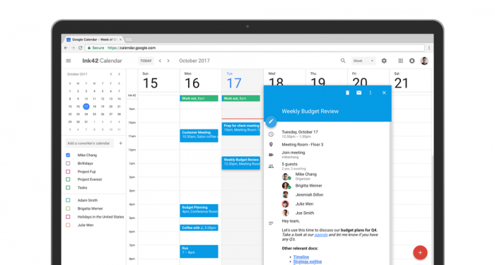 Google Agenda (Calendar)