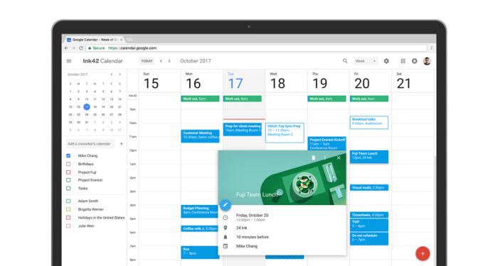 google calendar agenda novo design