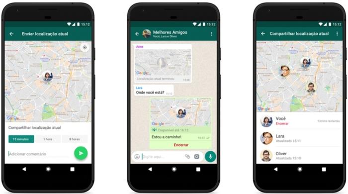 WhatsApp - Localização Atual
