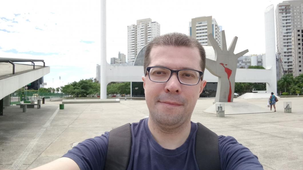 Selfie registrada com o Xperia XA1 Plus