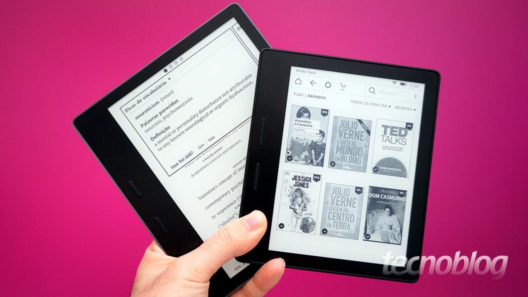e3afd47dac859 Em relação à geração anterior, o novo Kindle Oasis ganhou uma tela maior (7  polegadas, contra 6 no antecessor), mantendo a definição de 300 pixels por  ...