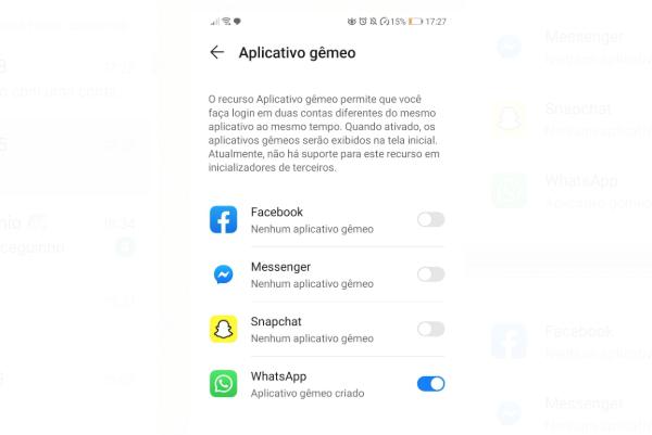 Dois WhatsApp - Aplicativo Gêmep - Android