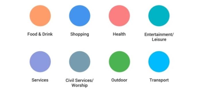 Google Maps - cores