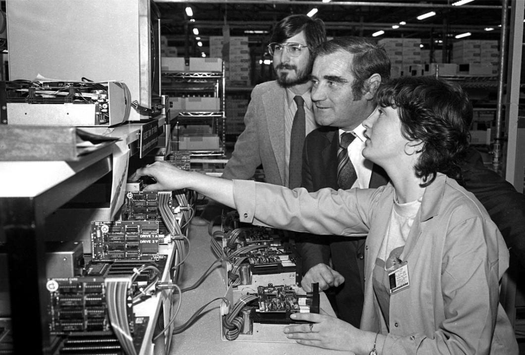 Steve Jobs em Cork, Irlanda, em outubro de 1980