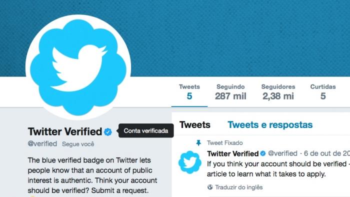Twitter - verificado