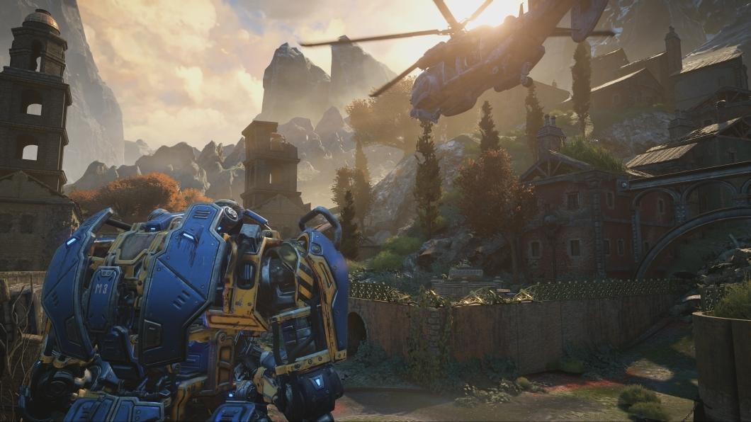 Gears of War 4 no Xbox One X. Imagem: TechCrunch