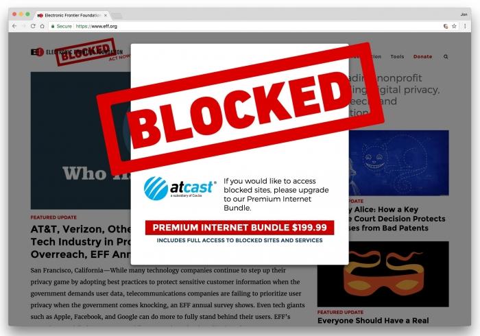 EFF em protesto contra o fim da neutralidade de rede