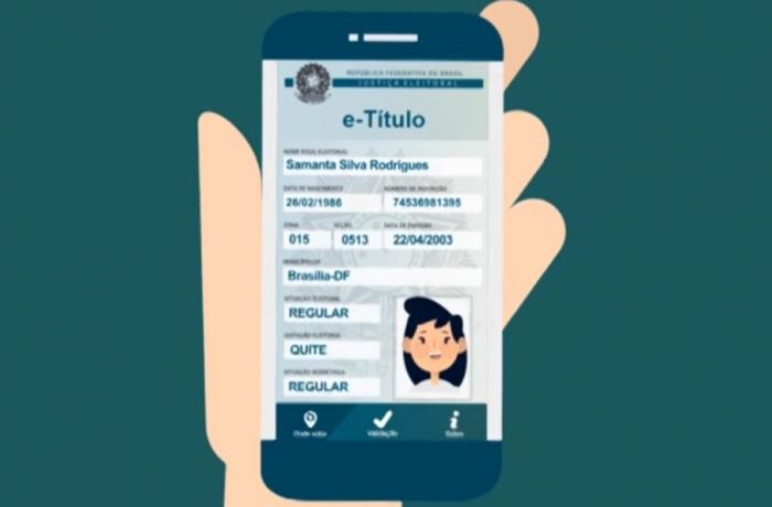 Trata-se do E-título, um app para Android e iOS (iPhone) que serve como uma versão digital para o documento