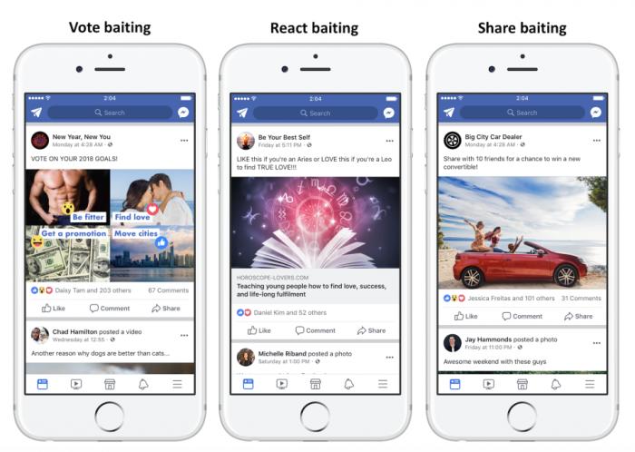 Facebook demolirá posts que pedem por curtidas e compartilhamentos
