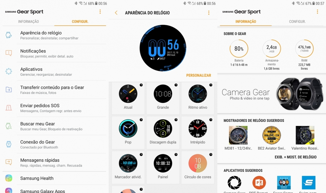 Samsung Gear app