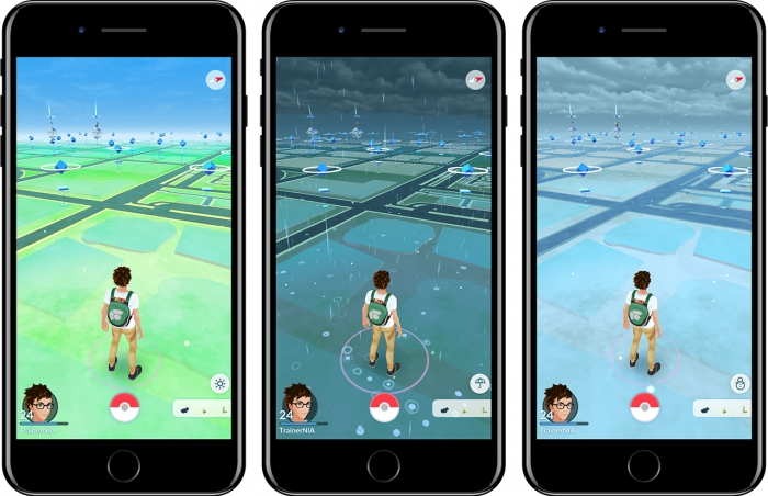 Poképaradas são os totens azuis no mapa (Imagem: Divulgação/Pokémon GO)