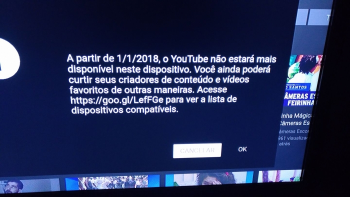 YouTube bloqueado na Amazon