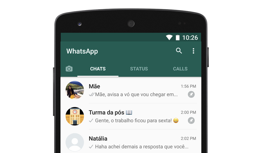 WhatsApp ganha botão