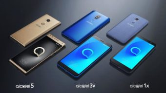 Smartphones baratos da Alcatel trazem tela 18:9 e leitor de digitais