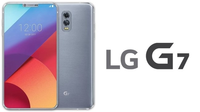 Montagem do que poderia ser o LG G7