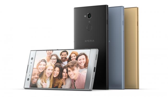 Sony Xperia XA2 e XA2 Ultra vs outros midrangers — Comparação de tamanho