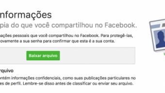 Confira as informações que o Facebook guarda sobre você