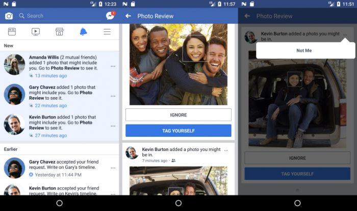 Facebook - reconhecimento facial