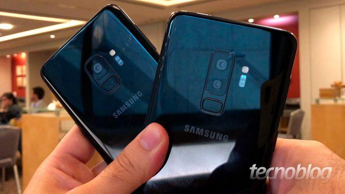 421c8bf4d3 Em comum, o Galaxy S9 e o Galaxy S9+ têm processador octa-core Snapdragon  845, câmera frontal de 8 megapixels (f/1,7), 64, 128 ou 256 GB de  armazenamento ...