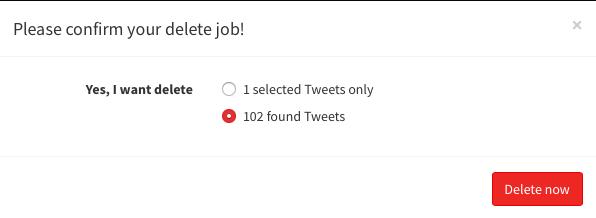 delete tweets