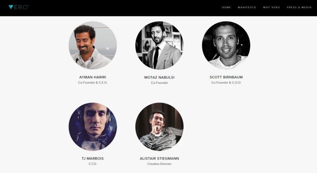 Os fundadores da Vero; Ayman Hariri também ocupa o cargo de CEO