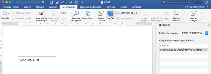 Como formatar monografia nas normas da ABNT - Nota de Rodapé