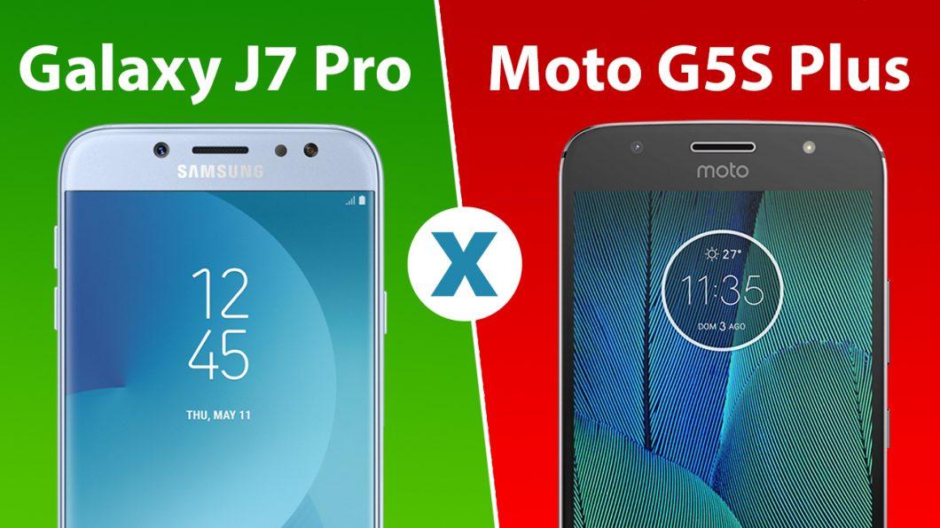 0d0507dc38 Comparativo  Galaxy J7 Pro ou Moto G5S Plus