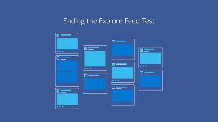 Facebook - fim do teste do feed secundário