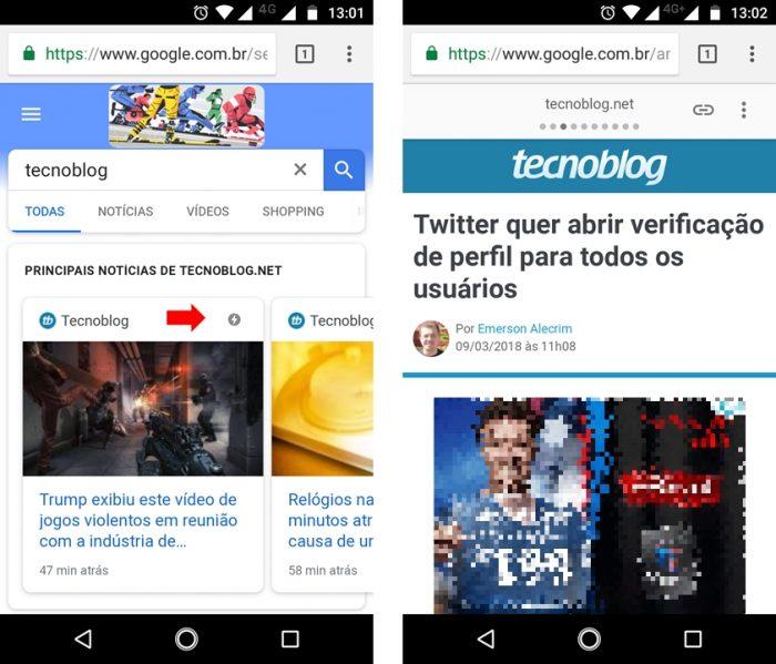 Google AMP - Tecnoblog