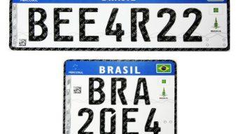 Placas de carros no Brasil terão padrão Mercosul, QR Code e chip