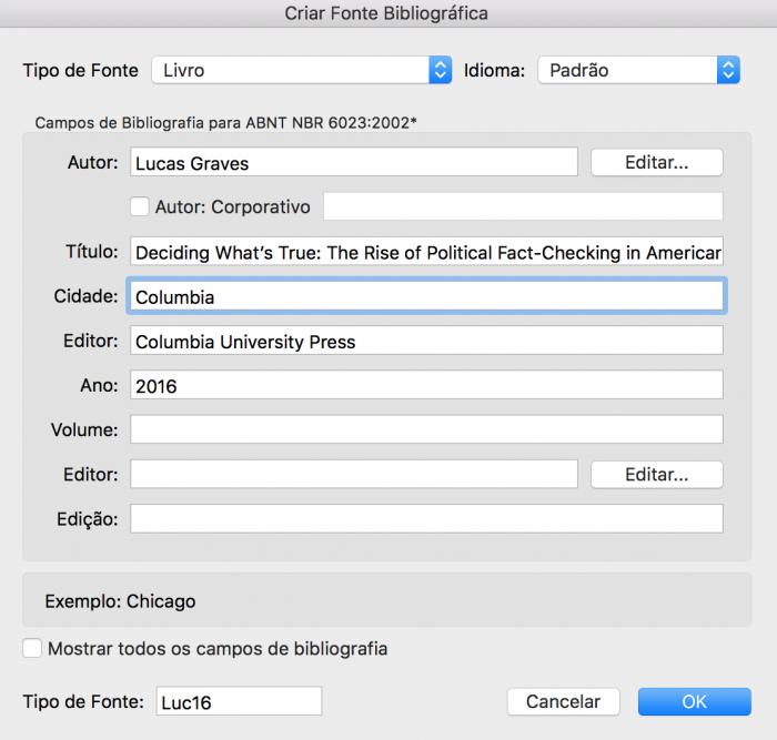 Como formatar monografia nas normas da ABNT - Fonte Bibliográfica