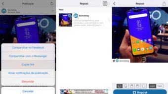 Como repostar fotos e vídeos no Instagram