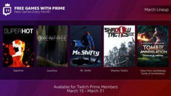 Twitch oferece jogos gratuitos todo mês para assinantes do Amazon Prime