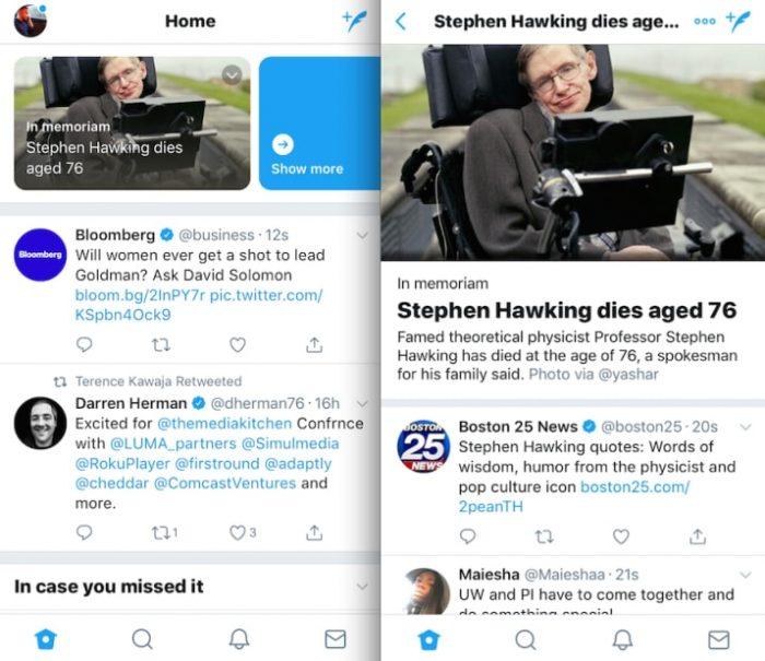 Twitter - teste com breaking news