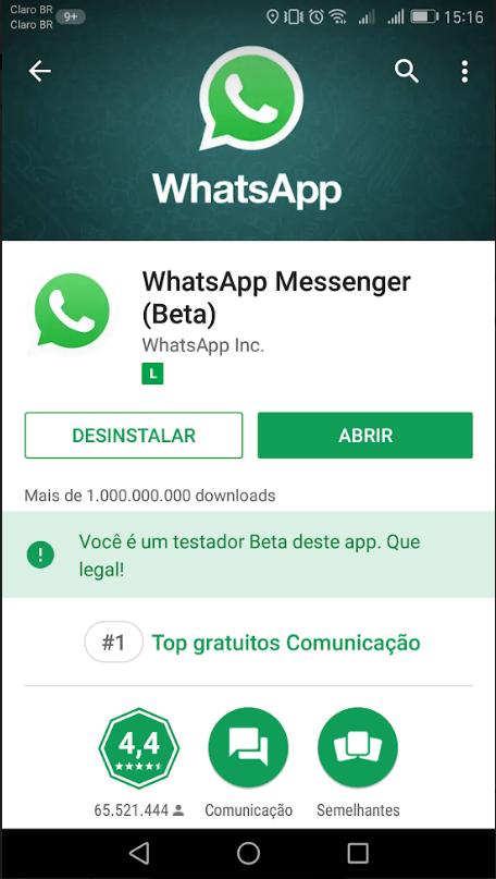 Resultado de imagem para whatsapp beta