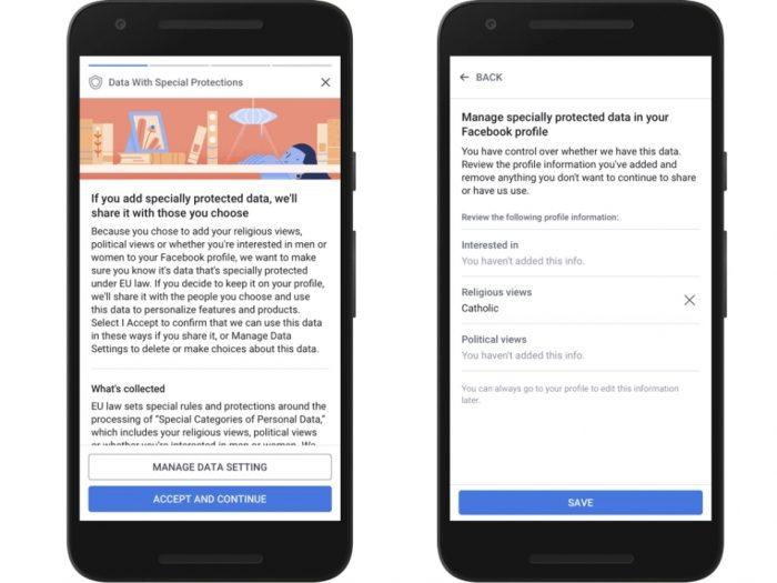 Facebook - revisão de privacidade