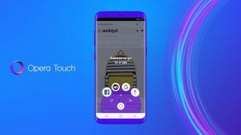 Opera Touch é um navegador para Android que você usa só com uma mão