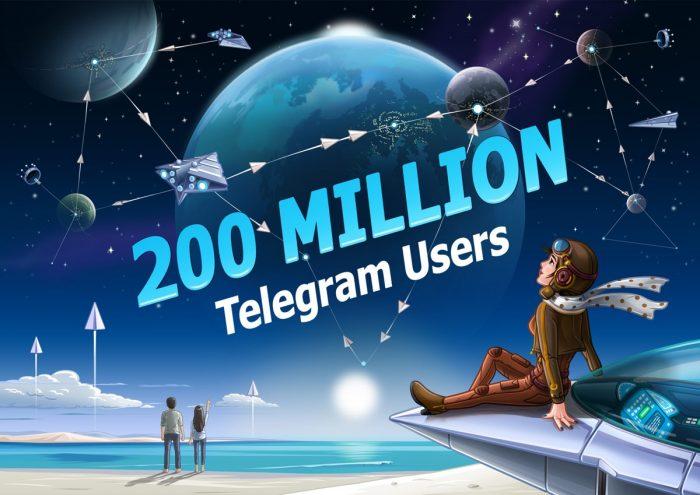 Telegram - 200 milhões de usuários