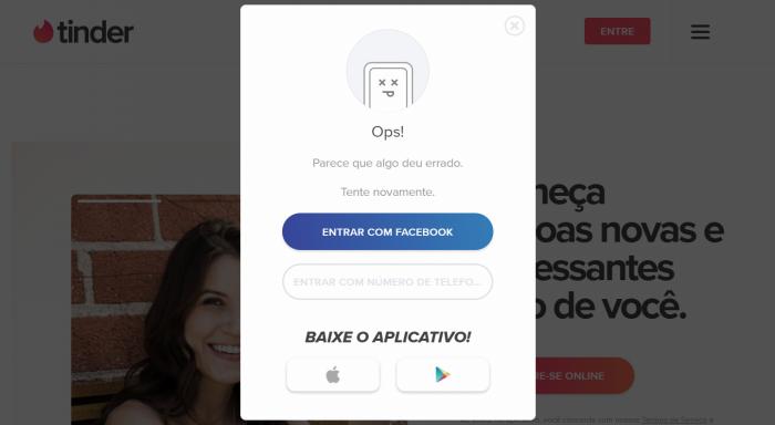 Tinder deixa usuários na mão após falha no login do Facebook – Celular
