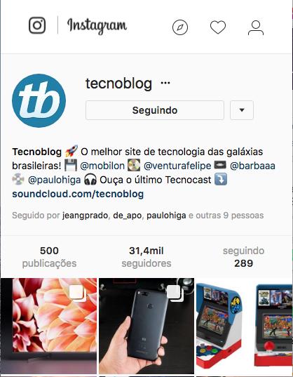 Biografia para Instagram Tecnoblog
