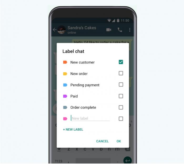 WhatsApp Business: etiquetas identificam clientes