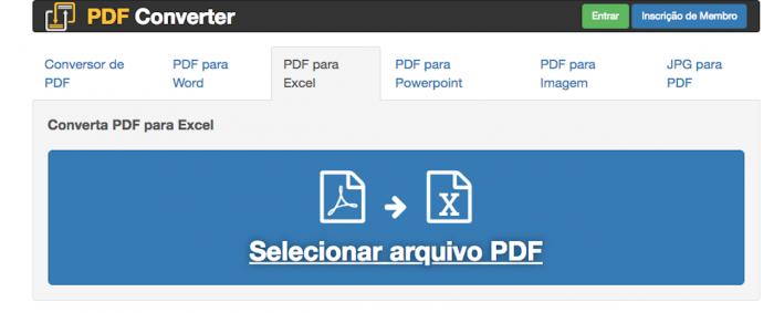 PDF Converter Excel