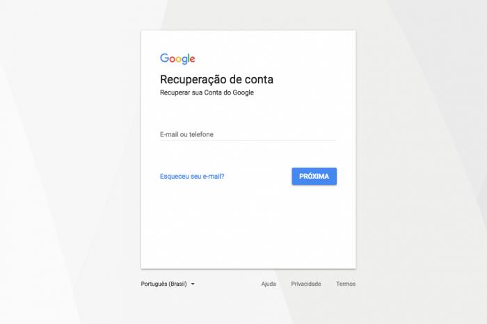 Recuperar Gmail Senha