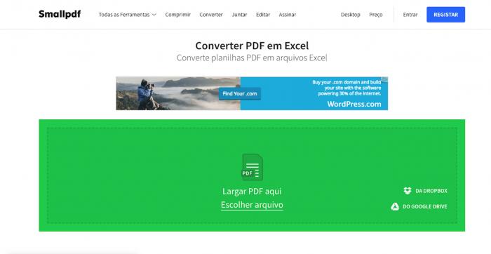 Small PDF para Excel