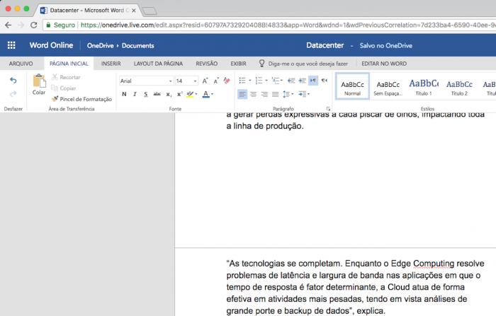 Word Online Editar Texto Web