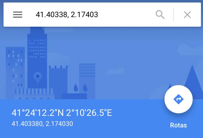 Uso de coordenadas en Google Maps 1