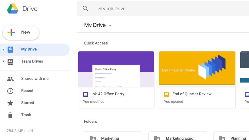 Google drive ganha novo visual na web para combinar com gmail essas so as principais mudanas stopboris Image collections