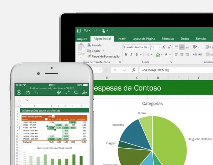 Gráfico no Microsoft Excel